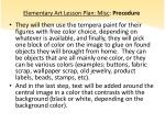elementary art lesson plan misc procedure2