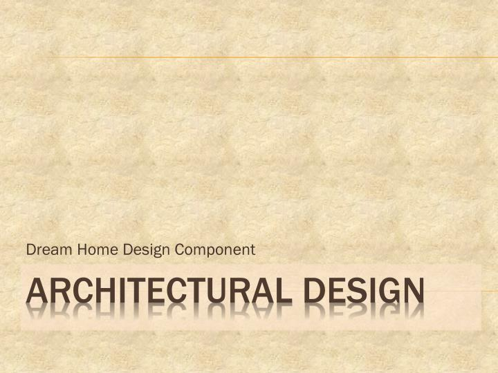 dream home design component n.