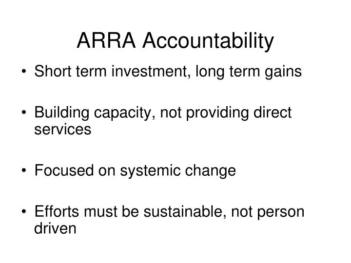 ARRA Accountability
