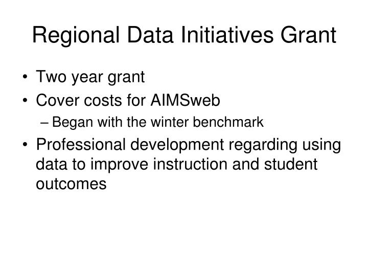 Regional Data Initiatives Grant