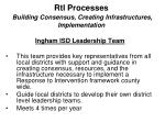rti processes building consensus creating infrastructures implementation