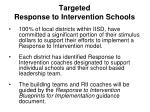 targeted response to intervention schools