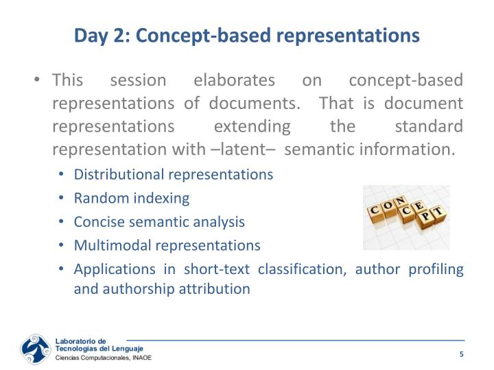 Day 2: Concept-based representations