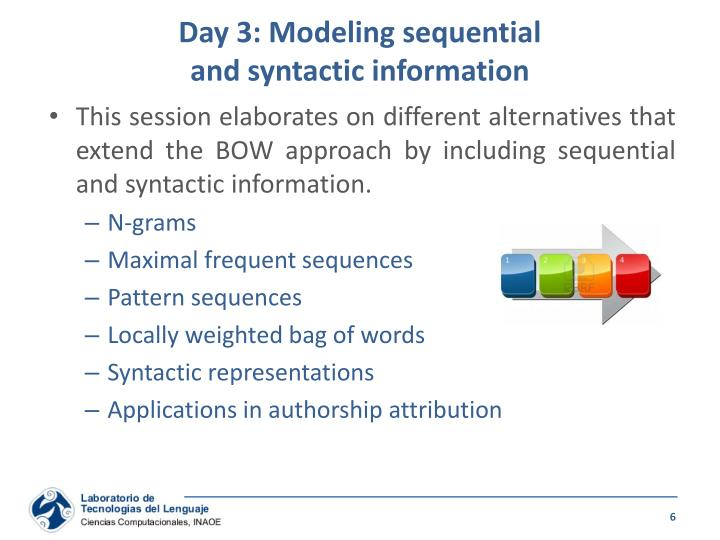 Day 3: Modeling sequential