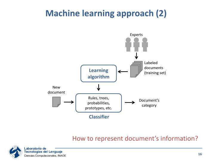 Machine learning approach (2)