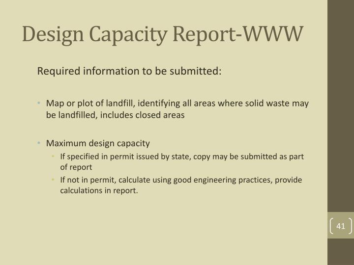 Design Capacity Report-WWW