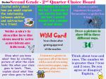 second grade 2 nd quarter choice board