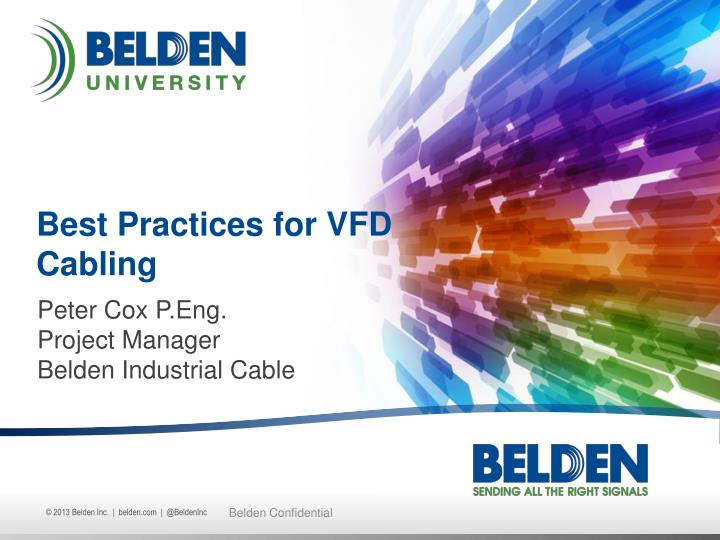 best practices for vfd cabling n.