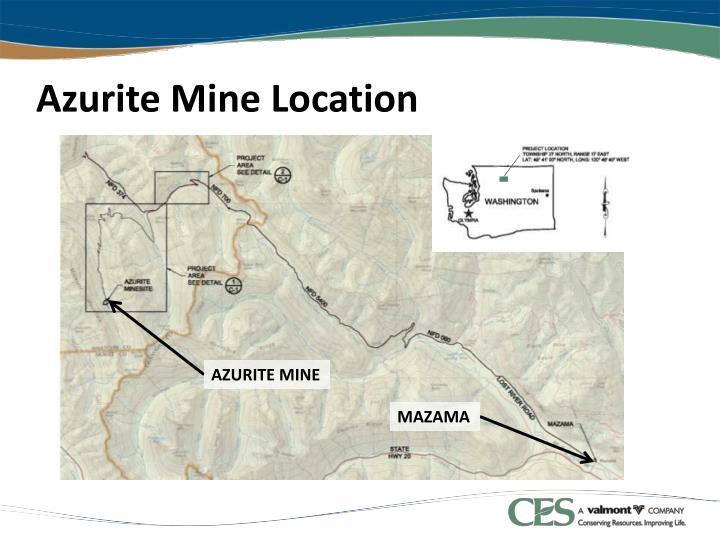 Azurite mine location