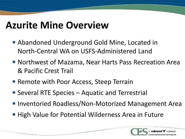 Azurite mine overview