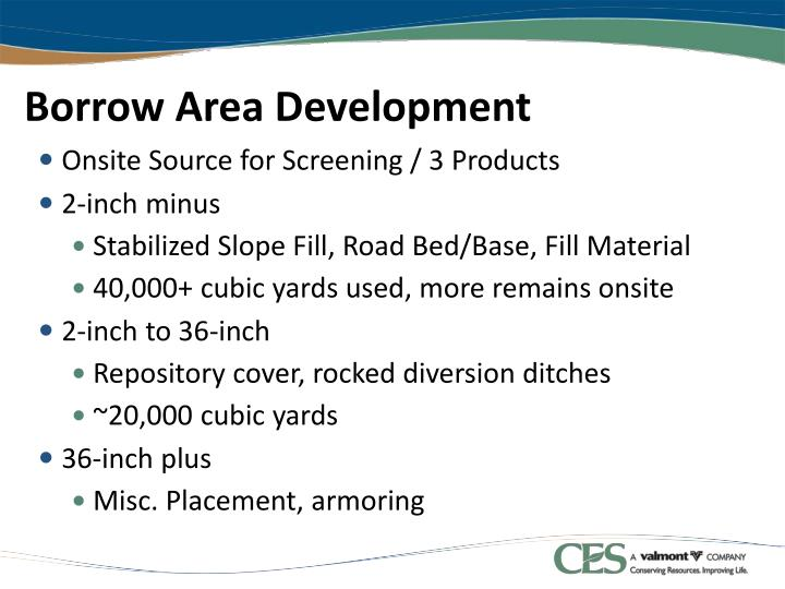 Borrow Area Development