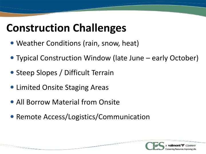 Construction Challenges