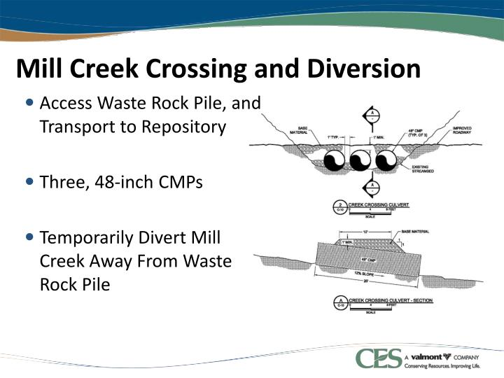 Mill Creek Crossing and Diversion