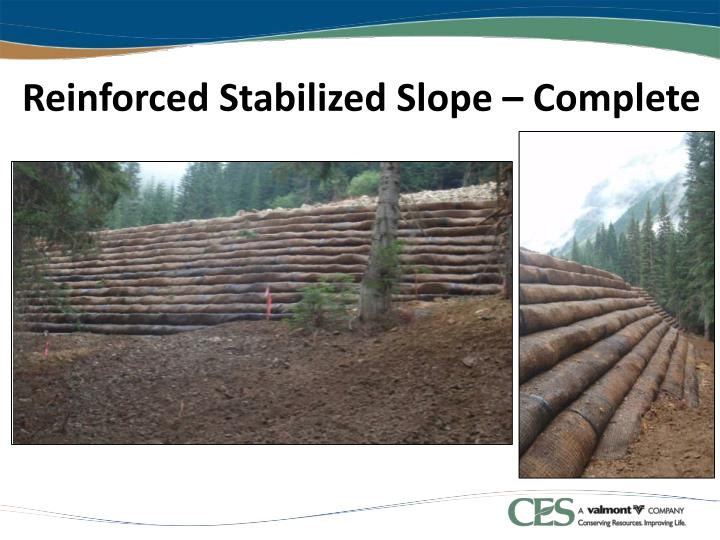 Reinforced Stabilized Slope – Complete