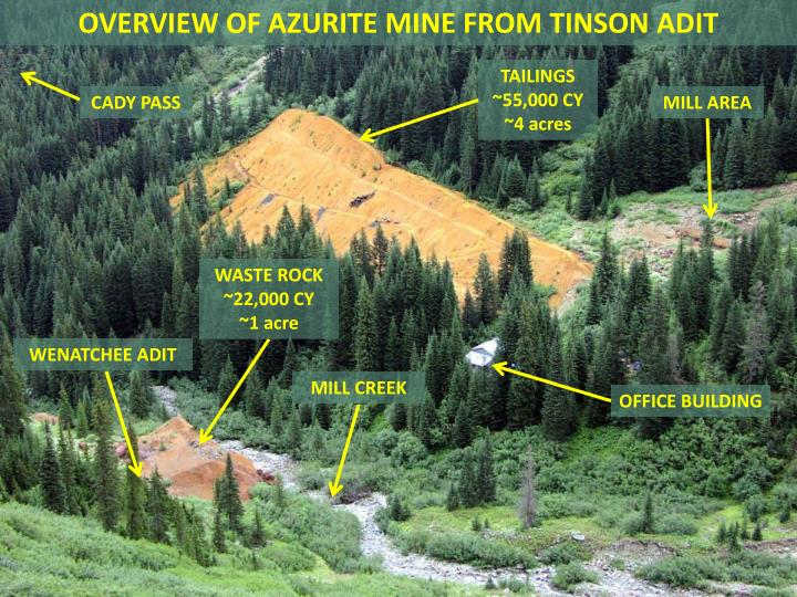 OVERVIEW OF AZURITE MINE FROM TINSON ADIT