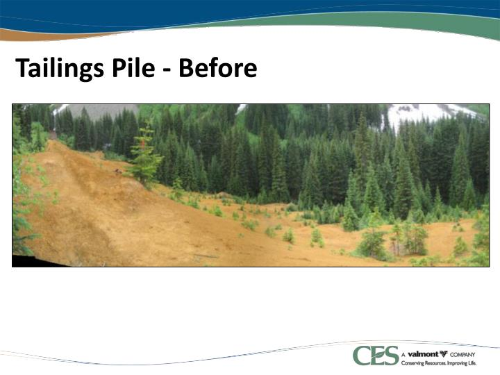 Tailings Pile - Before