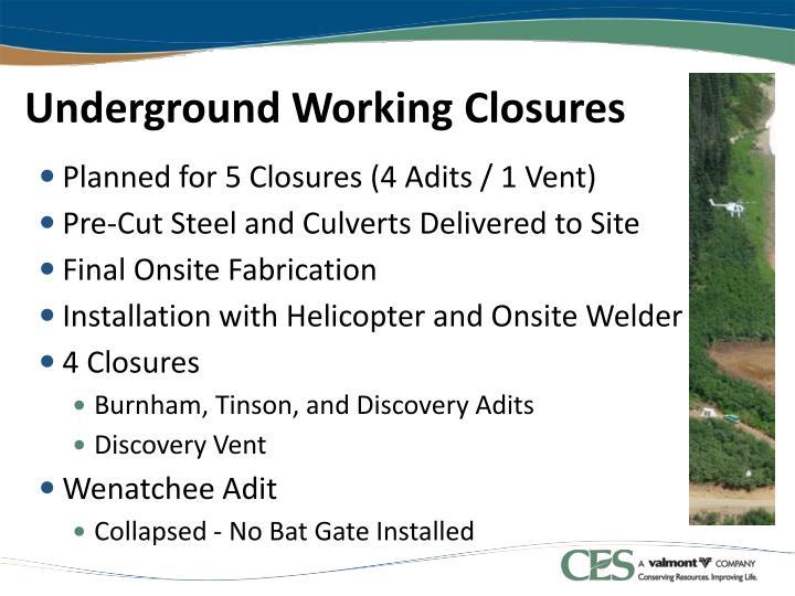 Underground Working Closures