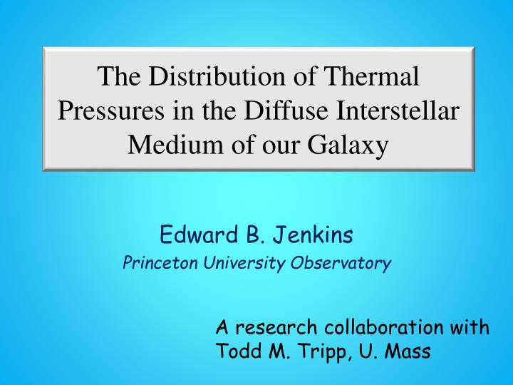 the distribution of thermal pressures in the diffuse interstellar medium of our galaxy n.