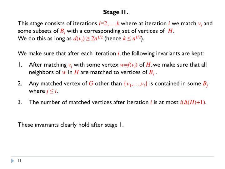 Stage I1.
