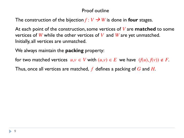 Proof outline