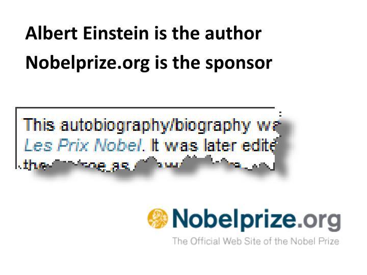 Albert Einstein is the author