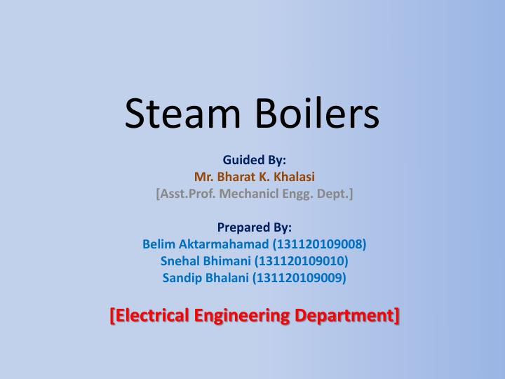 PPT - Steam Boilers PowerPoint Presentation - ID:1617455