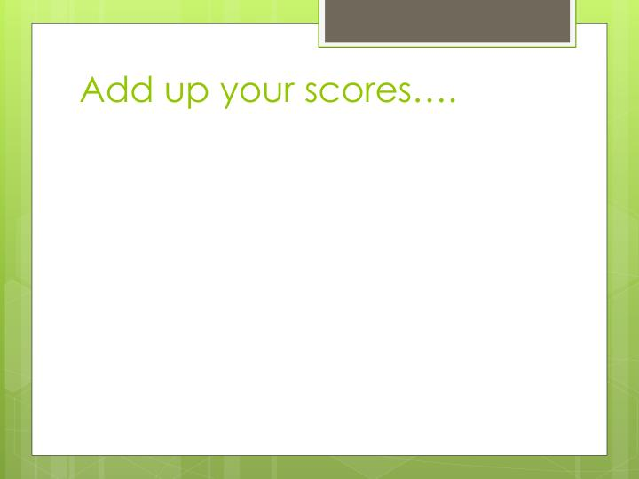 Add up your scores….