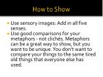 how to show1