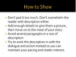 how to show6