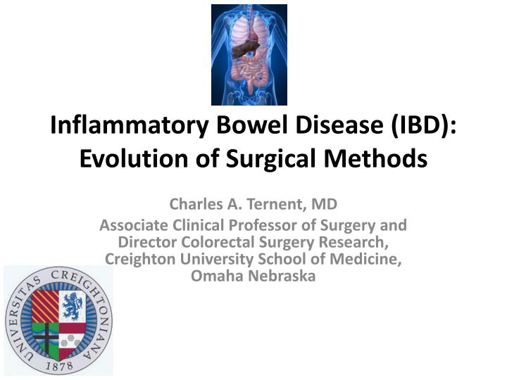 inflammatory bowel disease ibd evolution of surgical methods n.