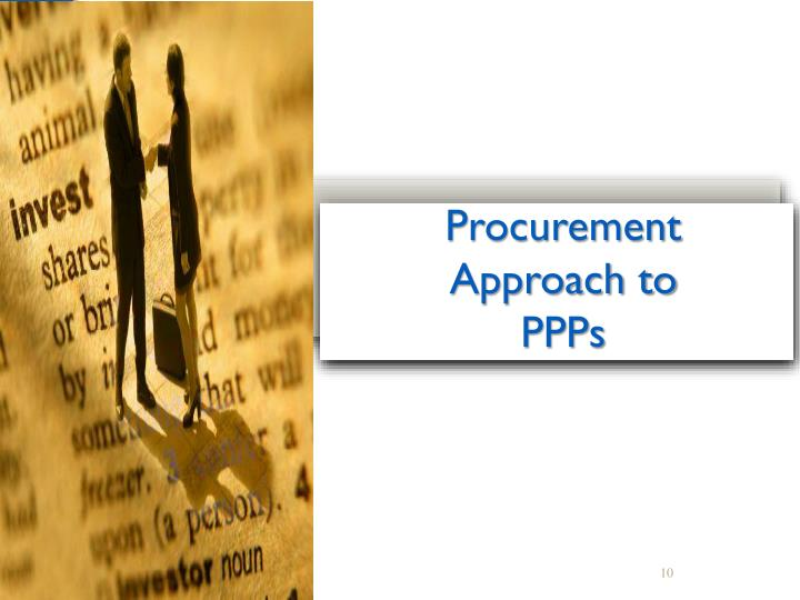 Procurement Approach to PPPs