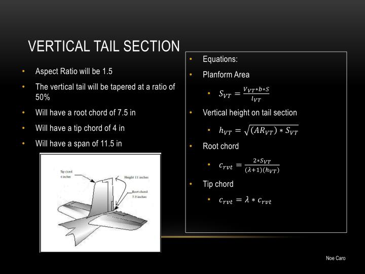 Vertical tail section