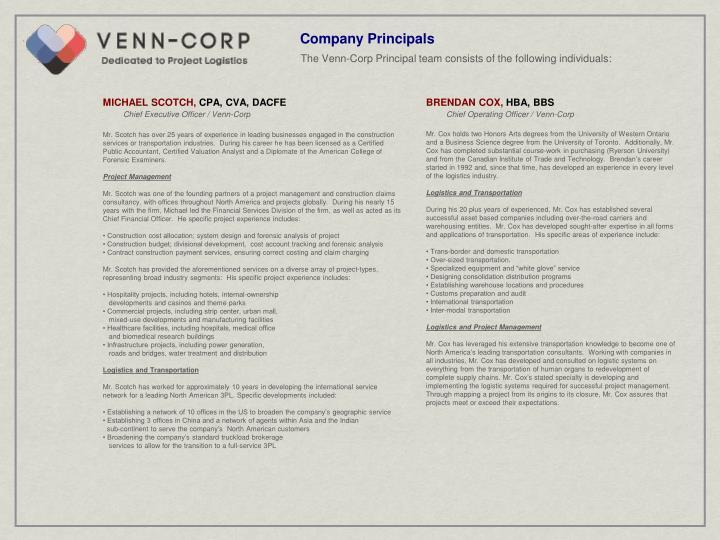 Company Principals