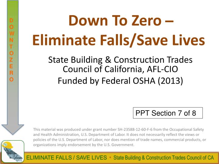 down to zero eliminate falls save lives n.