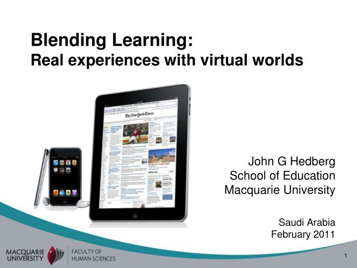 blending learning real experiences with virtual worlds n.