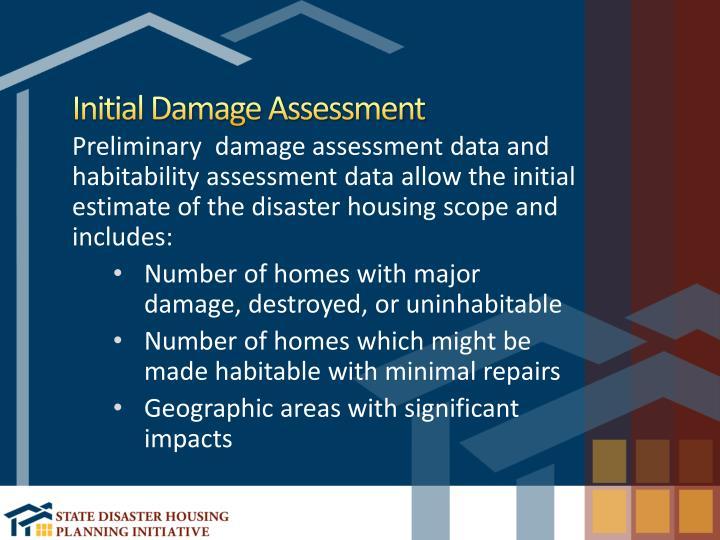 Initial Damage Assessment