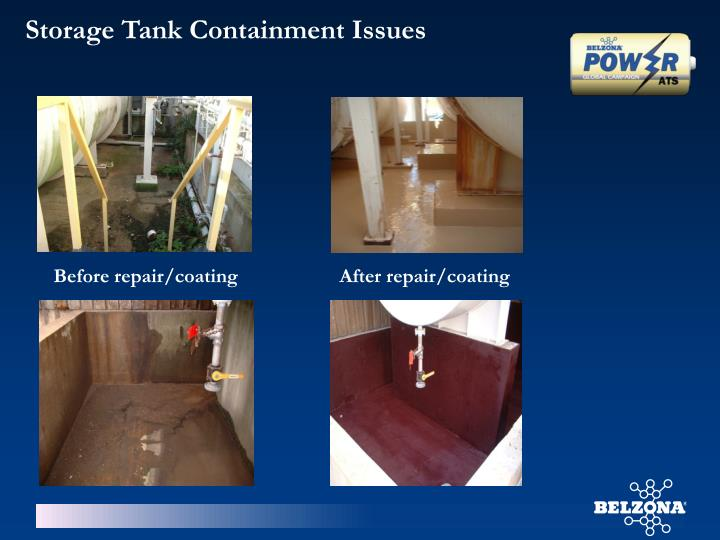 Storage Tank Containment Issues