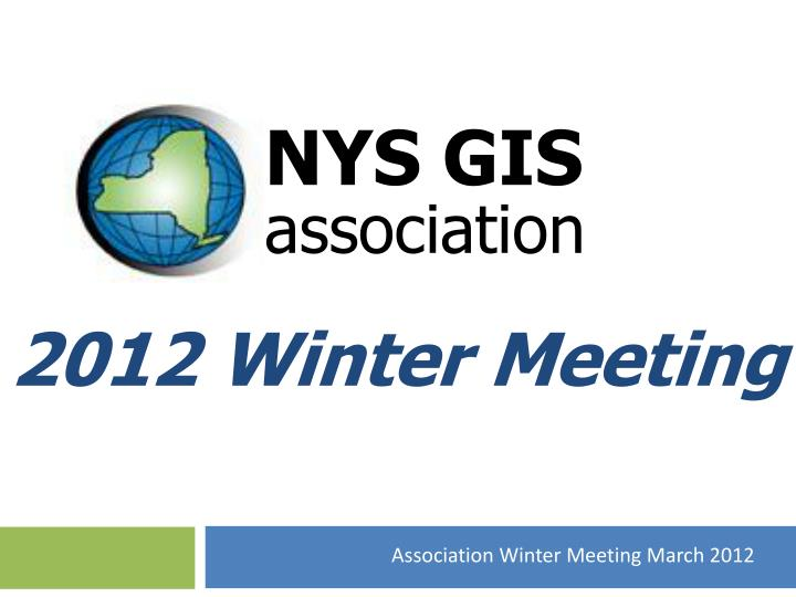 2012 winter meeting n.