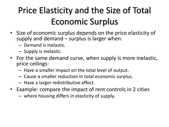 Price Elasticity and the Size of Total Economic Surplus