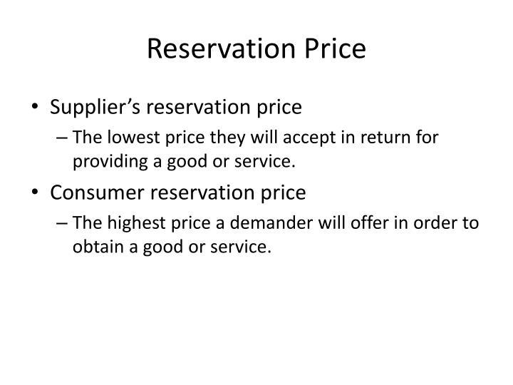 Reservation Price