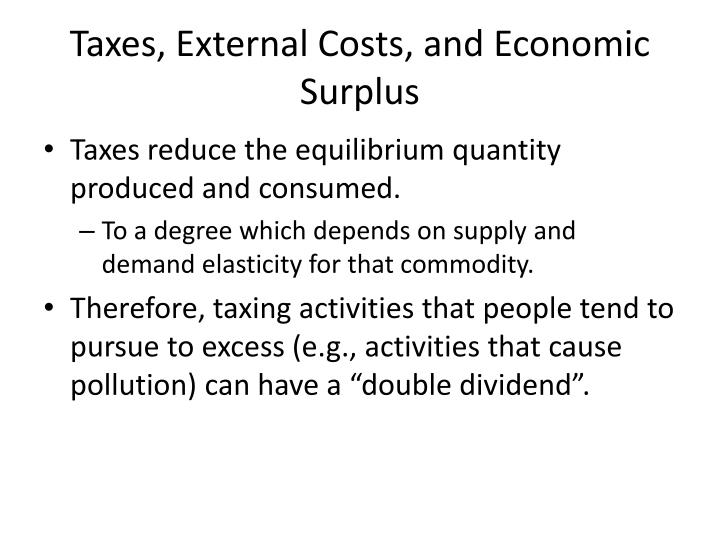 Taxes, External Costs, and