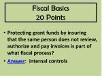 fiscal basics 20 points