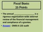 fiscal basics 25 points