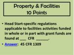 property facilities 10 points
