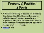 property facilities 5 points