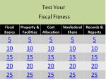 test your fiscal fitness