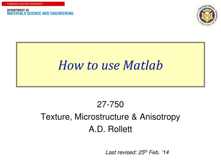 how to use matlab n.