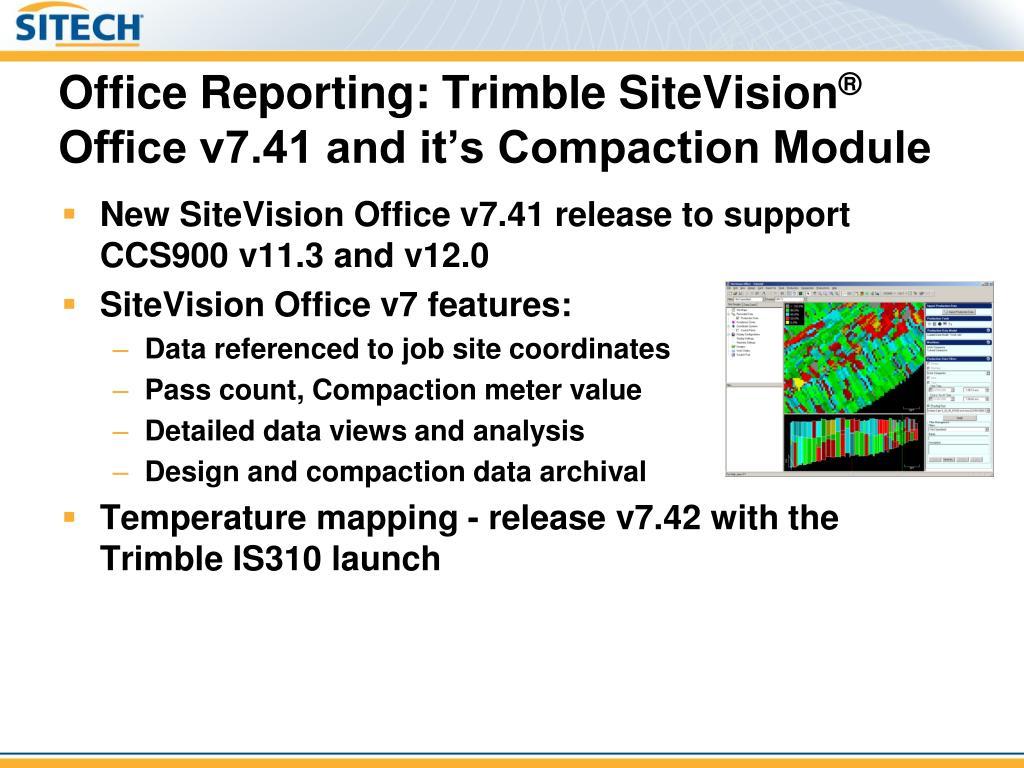 Trimble Site Vision Office
