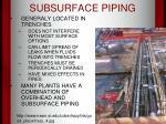 subsurface piping