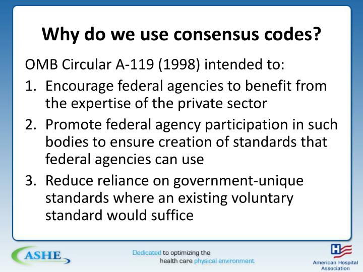 Why do we use consensus